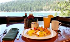 Breakfast at Bass Lake, California Resort