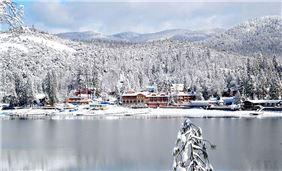 Winter at the Pines Resort on Bass Lake