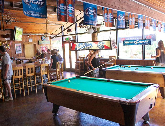 Pines Bar At Bass Lake California