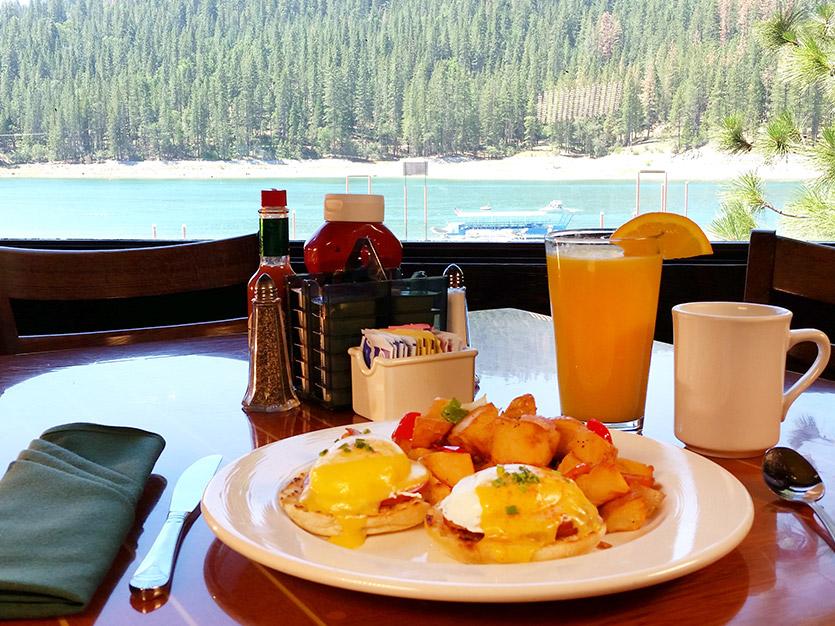 Breakfast with Lake Views at California Hotel